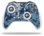 WraptorCamo Old School Camouflage Camo Navy - Decal Style Skin fits Microsoft XBOX One S and One X Wireless Controller
