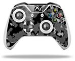 WraptorCamo Old School Camouflage Camo Black - Decal Style Skin fits Microsoft XBOX One S and One X Wireless Controller