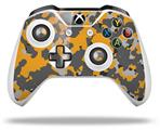 WraptorCamo Old School Camouflage Camo Orange - Decal Style Skin fits Microsoft XBOX One S and One X Wireless Controller