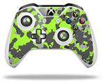 WraptorCamo Old School Camouflage Camo Lime Green - Decal Style Skin fits Microsoft XBOX One S and One X Wireless Controller