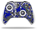 WraptorCamo Old School Camouflage Camo Blue Royal - Decal Style Skin fits Microsoft XBOX One S and One X Wireless Controller