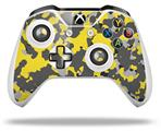 WraptorCamo Old School Camouflage Camo Yellow - Decal Style Skin fits Microsoft XBOX One S and One X Wireless Controller
