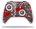 WraptorCamo Old School Camouflage Camo Red - Decal Style Skin fits Microsoft XBOX One S and One X Wireless Controller