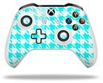 Skin Wrap for Microsoft XBOX One S / X Controller Houndstooth Neon Teal