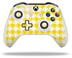 Skin Wrap for Microsoft XBOX One S / X Controller Houndstooth Yellow