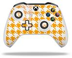 Skin Wrap for Microsoft XBOX One S / X Controller Houndstooth Orange