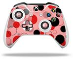 Skin Wrap for Microsoft XBOX One S / X Controller Lots of Dots Red on Pink