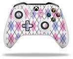 Argyle Pink and Blue - Decal Style Skin fits Microsoft XBOX One S and One X Wireless Controller