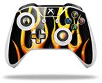 Skin Wrap for Microsoft XBOX One S / X Controller Metal Flames