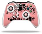 Big Kiss Lips Black on Pink - Decal Style Skin fits Microsoft XBOX One S and One X Wireless Controller