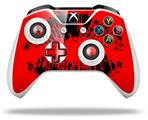 Big Kiss Lips Black on Red - Decal Style Skin fits Microsoft XBOX One S and One X Wireless Controller