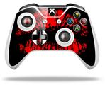 Skin Wrap for Microsoft XBOX One S / X Controller Big Kiss Lips Red on Black