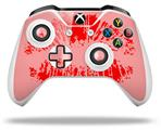 Skin Wrap for Microsoft XBOX One S / X Controller Big Kiss Lips Red on Pink