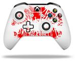 Big Kiss Lips Red on White - Decal Style Skin fits Microsoft XBOX One S and One X Wireless Controller