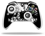 Big Kiss Lips White on Black - Decal Style Skin fits Microsoft XBOX One S and One X Wireless Controller