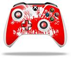 Skin Wrap for Microsoft XBOX One S / X Controller Big Kiss Lips White on Red