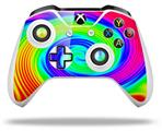 Rainbow Swirl - Decal Style Skin fits Microsoft XBOX One S and One X Wireless Controller