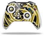 Skin Wrap for Microsoft XBOX One S / X Controller Alecias Swirl 02 Yellow
