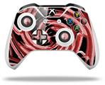 Skin Wrap for Microsoft XBOX One S / X Controller Alecias Swirl 02 Red