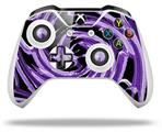 Alecias Swirl 02 Purple - Decal Style Skin fits Microsoft XBOX One S and One X Wireless Controller