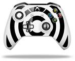 Bullseye Black and White - Decal Style Skin fits Microsoft XBOX One S and One X Wireless Controller