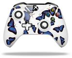 Butterflies Blue - Decal Style Skin fits Microsoft XBOX One S and One X Wireless Controller