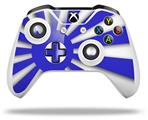 Skin Wrap for Microsoft XBOX One S / X Controller Rising Sun Japanese Flag Blue