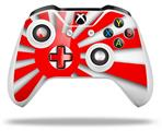 Skin Wrap for Microsoft XBOX One S / X Controller Rising Sun Japanese Flag Red