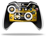 2010 Chevy Camaro Yellow - Black Stripes on Black - Decal Style Skin fits Microsoft XBOX One S and One X Wireless Controller