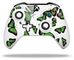 Butterflies Green - Decal Style Skin fits Microsoft XBOX One S and One X Wireless Controller