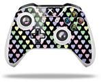 Skin Wrap for Microsoft XBOX One S / X Controller Pastel Hearts on Black