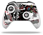 Abstract 02 Red - Decal Style Skin fits Microsoft XBOX One S and One X Wireless Controller