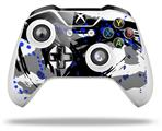 Abstract 02 Blue - Decal Style Skin fits Microsoft XBOX One S and One X Wireless Controller