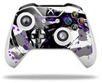 Skin Wrap for Microsoft XBOX One S / X Controller Abstract 02 Purple