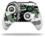 Skin Wrap for Microsoft XBOX One S / X Controller Abstract 02 Green