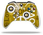 Skin Wrap for Microsoft XBOX One S / X Controller Love and Peace Yellow
