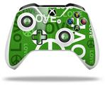 Love and Peace Green - Decal Style Skin fits Microsoft XBOX One S and One X Wireless Controller