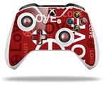 Love and Peace Red - Decal Style Skin fits Microsoft XBOX One S and One X Wireless Controller