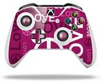 Love and Peace Hot Pink - Decal Style Skin fits Microsoft XBOX One S and One X Wireless Controller