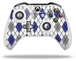 Skin Wrap for Microsoft XBOX One S / X Controller Argyle Blue and Gray