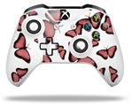 Skin Wrap for Microsoft XBOX One S / X Controller Butterflies Pink