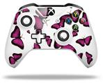 Skin Wrap for Microsoft XBOX One S / X Controller Butterflies Purple
