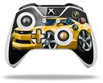 2010 Camaro RS Yellow - Decal Style Skin fits Microsoft XBOX One S and One X Wireless Controller