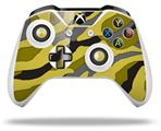 Skin Wrap for Microsoft XBOX One S / X Controller Camouflage Yellow