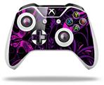 Skin Wrap for Microsoft XBOX One S / X Controller Twisted Garden Purple and Hot Pink