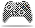 Skin Wrap for Microsoft XBOX One S / X Controller Checkered Canvas Black and White