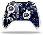 Twisted Garden Blue and White - Decal Style Skin fits Microsoft XBOX One S and One X Wireless Controller