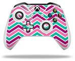 Zig Zag Teal Pink Purple - Decal Style Skin fits Microsoft XBOX One S and One X Wireless Controller