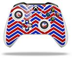 Skin Wrap for Microsoft XBOX One S / X Controller Zig Zag Red White and Blue