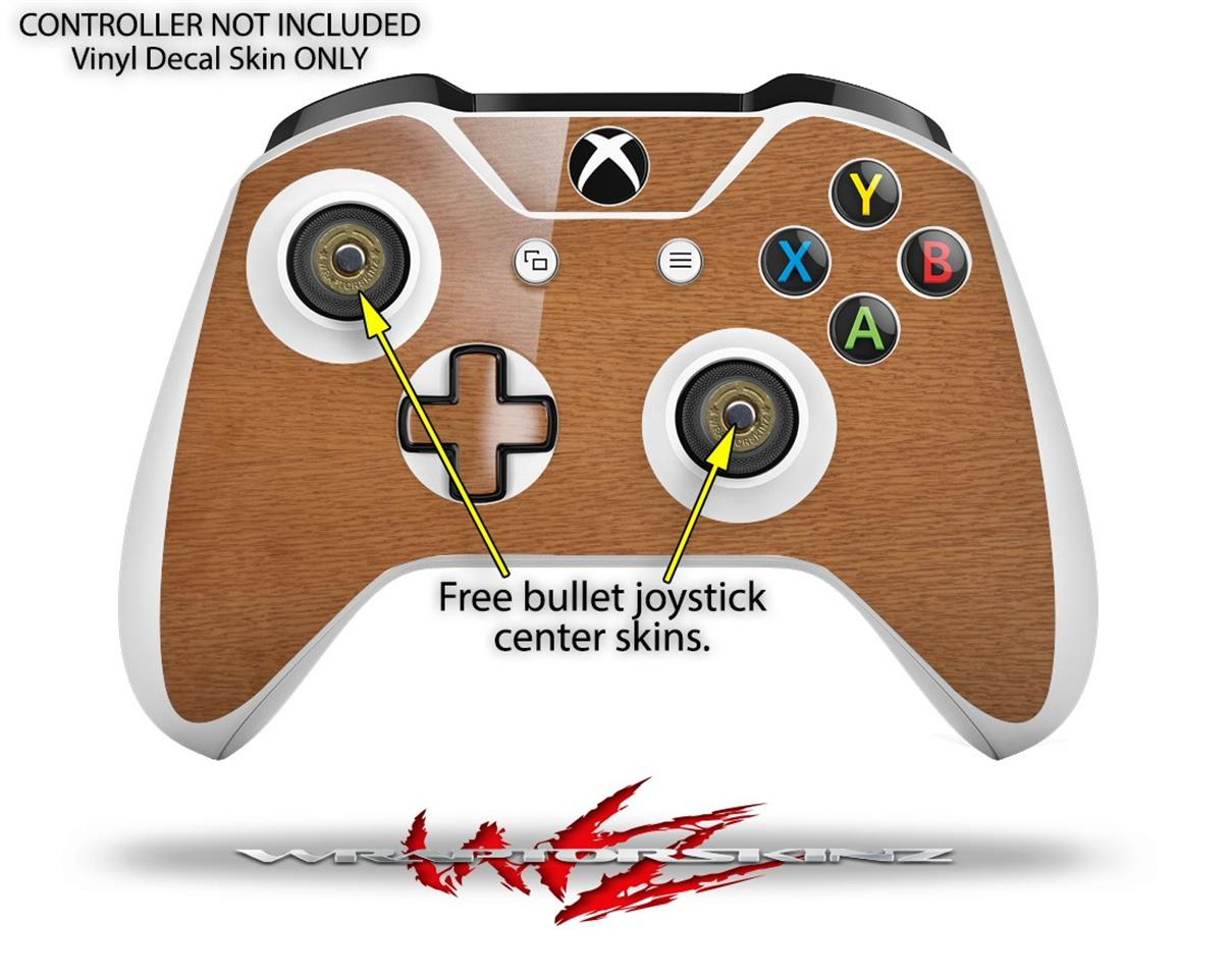 XBOX One S Console Controller Bundle Skins Wood Grain - Oak